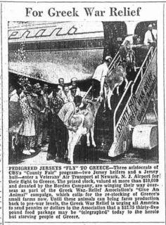 Veterans Air Express 1946 Greek War Relief flight makes history