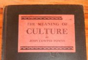 John Cooper POWYS book cover for The Meaning of Culture