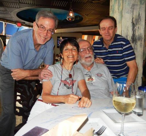 A Stettner gathering (from left) eldest son Al, Gaye Lyn, Veterans Air Express pilot & co-founder Jack, and youngest son Scott.