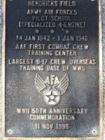 Hendricks Field. AAF 4-Engine Pilot School. Jan.1942 to Jan.1946.