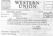 3/29/1946 Western Union telegram from Altvater to Gravely