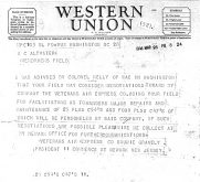 3/28/1946 Western Union telegram from Gravely to Altvater