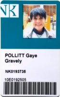 Czech Library card with Gaye Lyn's photo I.D.