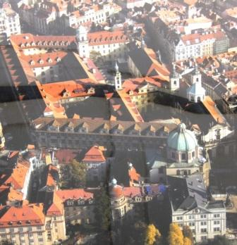 Image of Aerial poster shows dramatic size of The National Library of the Czech Republic.