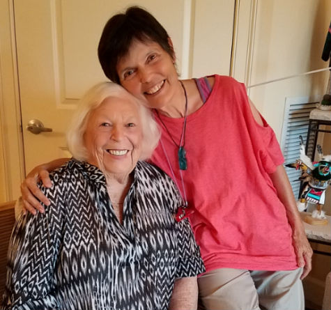 """Relaxing in Flordia recently, Marilyn and Gaye Lyn share stories of their childhoods and """"boy stuff"""" they learned from their Dads."""