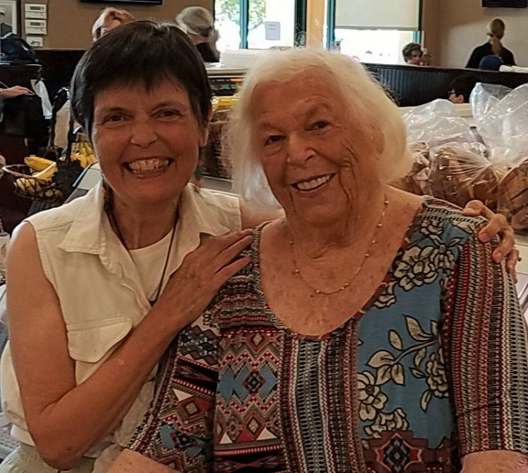 Face to face 2017 visit with 1945, 1st generation Veterans Air Express Marilyn Gries