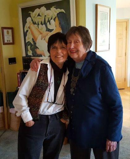 June and Gaye sharing a hug.