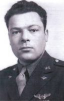 Handsome, serious-looking young Army Air Corps enlistee in 1942, Robert Gries, Marilyn's husband.