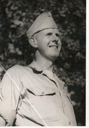 Young & handsome Charles F. Eason, Sr. pictured in uniform in 1943.