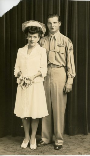Newly weds Saunie and Lydia Gravely two years before he founds Veterans Air Express.