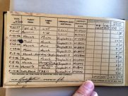 "January 22, 1946 entry in Jack Stettner's logbook. Veterans Air Express DC33, NC88829 - first evidence of ""rumored"" third DC-3."