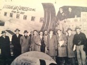 Group photo of Veterans Air Express original founders from a feature story in the 1946 April issue of AIR TRAILS PICTORIAL.