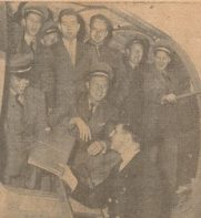 23 April 1946. VAE crew returns to Newark from first UNRRA and first Prague flight.