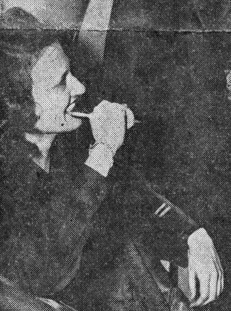 Charlotte McFall, former WAC, joined VAE as Hostess. Still seeking Charlotte's story. Photo Credit: New York World-Telegram, 5/6/1946