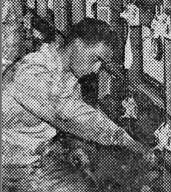 This young unknown VAE tech is intent on his responsible work. I'm intent on finding out who he is! Photo credit: Published in New York World-Telegram, 5/6/1946