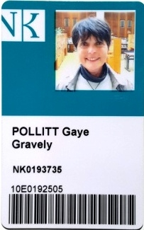 I wish it said Gaye Lyn, but the name had to be as it appears on my U.S. Passport. I will never take this Library card out of my wallet!