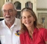 Veterans Air pilot Jack Stettner and his daughter Ellen Stettner in his home in 2015 where Gaye Lyn first met them both.