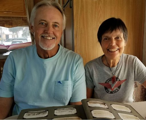Craig Broughton and Gaye Lyn tell stories about Veterans Air and share his dad's photo album.