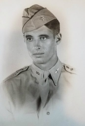 The youngest photo we have of Richard Broughton in uniform. His seriousness towards his military career evident from the very beginning from the expression in his eyes.