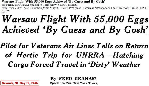 New York Times coverage of VAE historic flight to Warsaw.