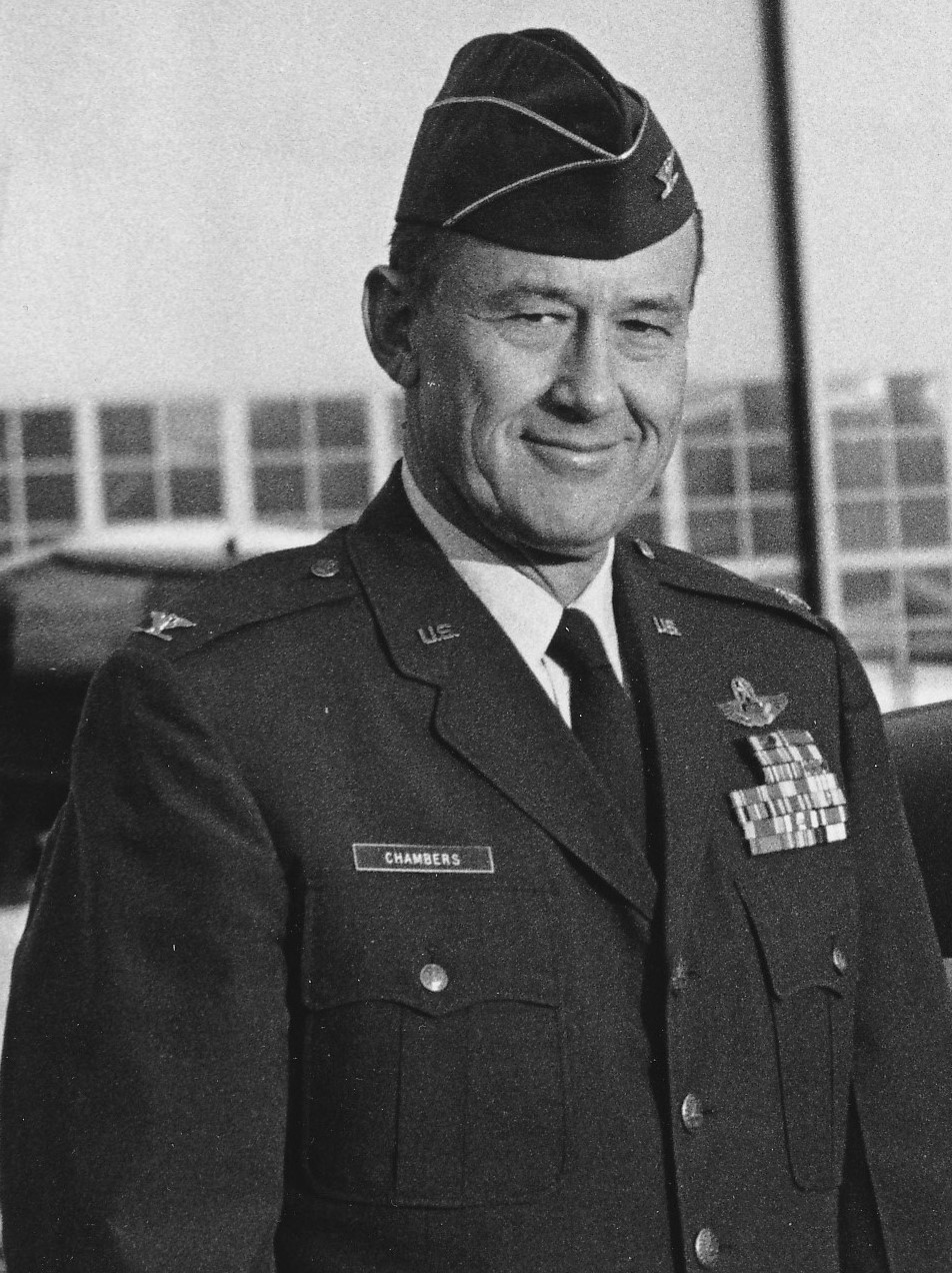 In 1974 Colonel Robert Chambers in New York Air National Guard uniform standing tall and handsome.