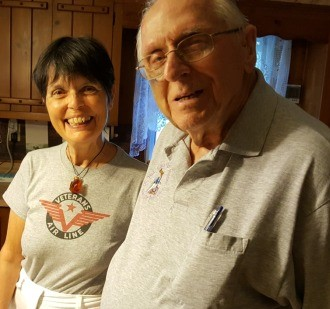 August 2016 in John Schaus' kitchen taking a break from telling Veterans Air stories.