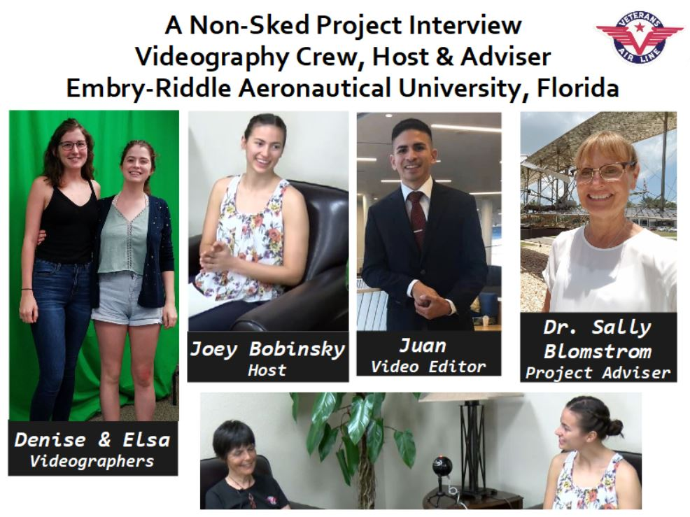 A collage of the four Embry-Riddle students and their Adviser who made this video happen.