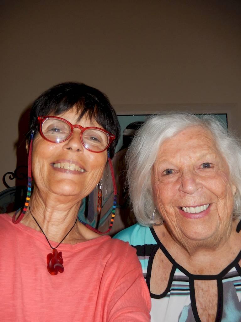 New BFF friends. Marilyn Gries & Gaye Lyn in 2015